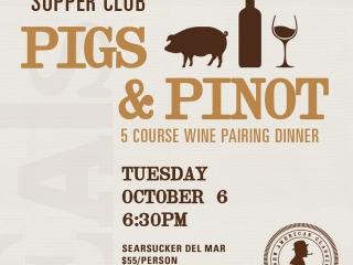 Searsucker Pigs & Pinot 5 course wine pairing