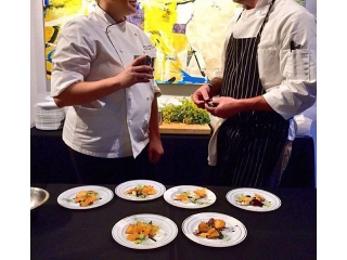 Chef Kenzie Allen and Pastry Chef Mike Mckenna at Artbites Event