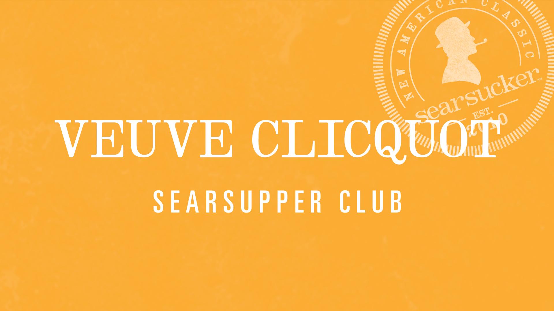 Bubbles Bites 101 With Veuve Clicquot Searsucker