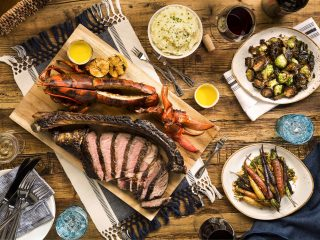 Surf and Turf with other dishes