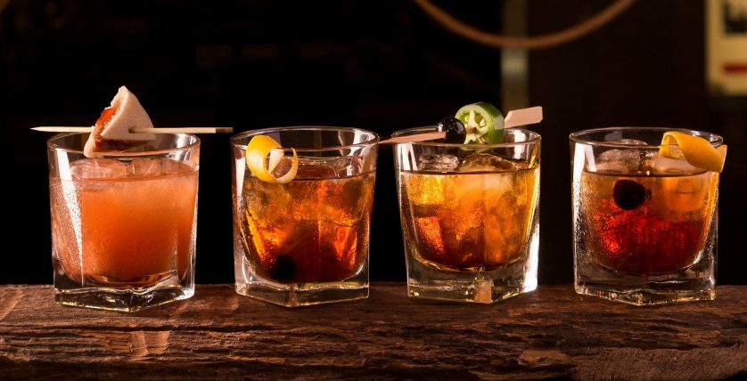 Four versions of our Old Fashioned cocktail